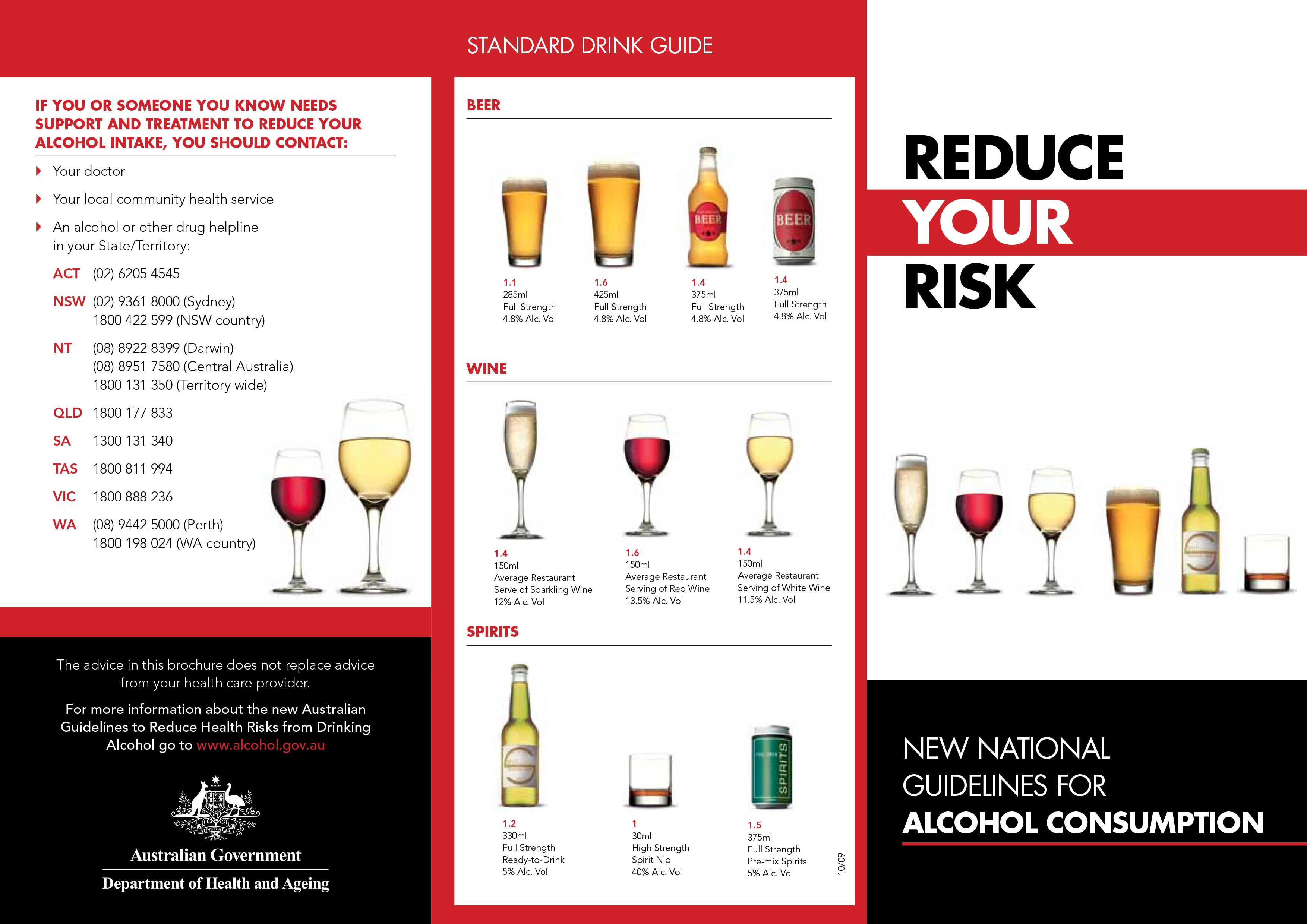 Alcohol: Reduce Your Risk Brochure - DOHA (2012)