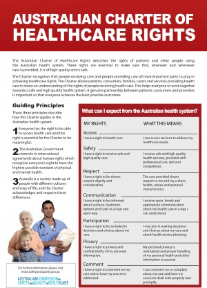 Australian Charter of Healthcare Rights - ACSQHC (2007)