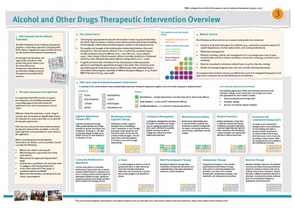 POSTER 3 – Alcohol and Other Drugs Therapeutic Intervention Overview